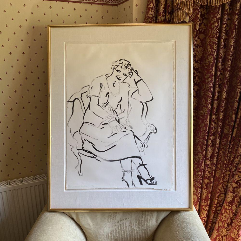 Lithographie Hockney -  Celia Inquiring