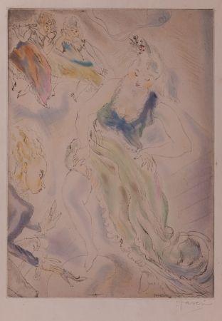 Eau-Forte Et Aquatinte Pascin - Cendrillon (Cinderella, trying on the slipper)