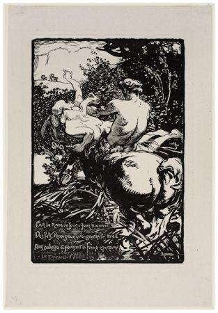 Gravure Sur Bois Lepere - Centaur