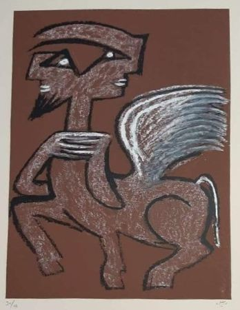 Sérigraphie Matta - Centaur Hemaphrodite
