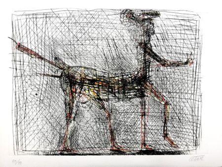 Lithographie Cesar - Centaure - Hommage à Picasso