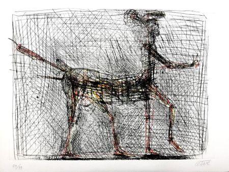 Gravure Cesar - Centaure, hommage à Picasso