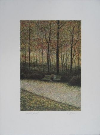Lithographie Altman - Central Park - The Lovers