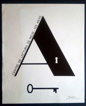 Affiche Brossa - Centre de Lectura de Reus - 125 anys - 1984