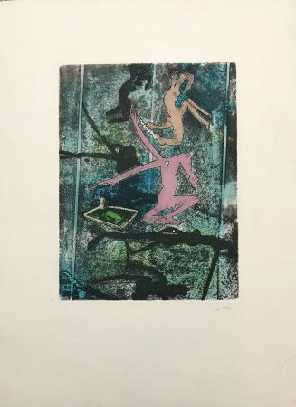 Eau-Forte Et Aquatinte Matta - Centre Noeuds – Plate 4