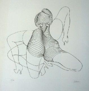 Eau-Forte Bellmer - Cephalopode double