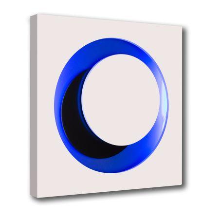 Gravure Sur Bois Claisse - Cercle Blanc et Bleu