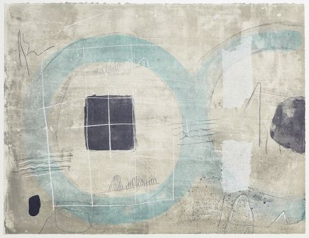 Lithographie Coll - Cercle Blue