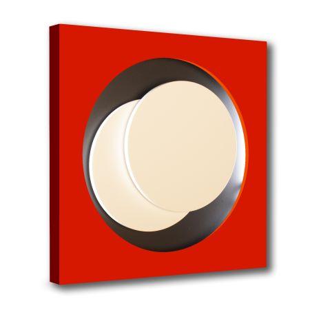 Gravure Sur Bois Claisse - Cercle Rouge et Noir