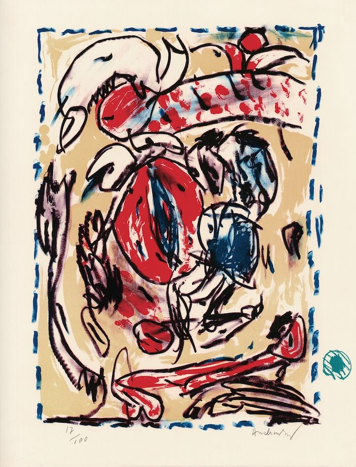 Lithographie Alechinsky - Cerclitude