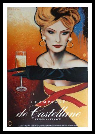 Affiche Razzia - CHAMPAGNE DE CASTELLANE - EPERNAY FRANCE