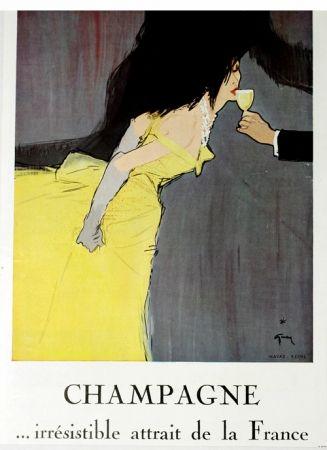 Offset Gruau - Champagne Irrestible  Atrait de la France