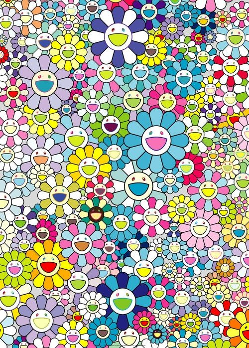 Lithographie Murakami - Champagne supernova blue