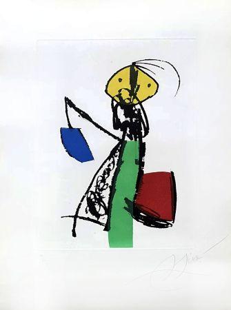 Gravure Miró - Chanteurs des rues