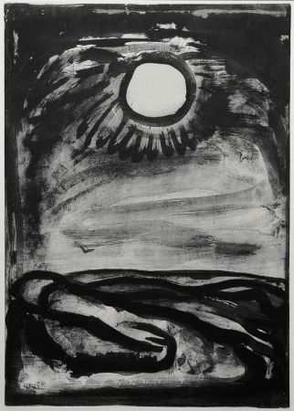 Aquatinte Rouault - Chantz Matines (plate 29 from Miserere)