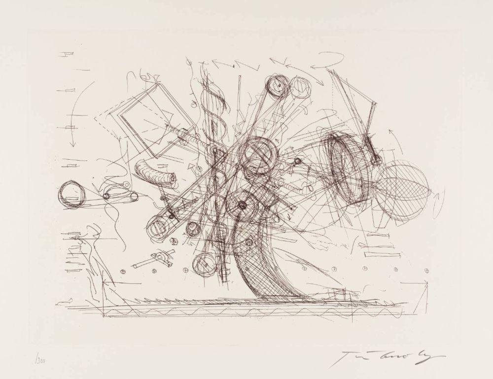Gravure Tinguely - Chaos I