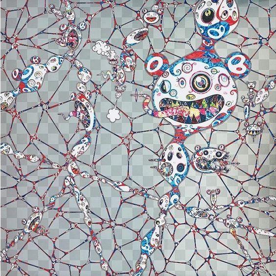 Lithographie Murakami - Chaos Primordial Life