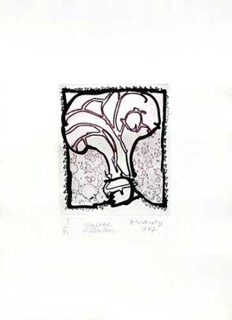 Gravure Alechinsky - Chapeau d'écriture