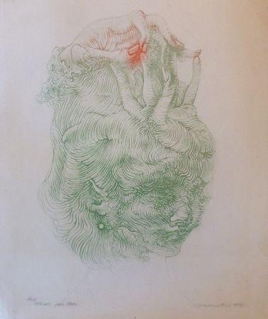 Lithographie Bellmer - CHAPEAU MAIN