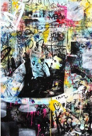 Sérigraphie Mr Brainwash - Chaplin, 2016