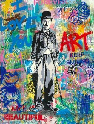 Sérigraphie Mr Brainwash - Chaplin, 2019