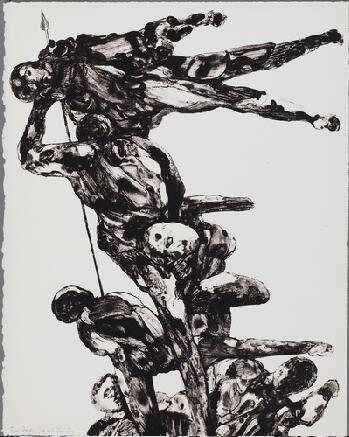 Lithographie Landau - Charades