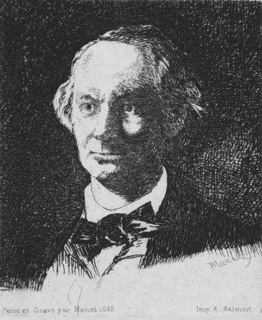 Eau-Forte Manet - Charles Baudelaire de face