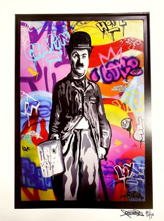 Affiche Fat - Charlie Chaplin II Print