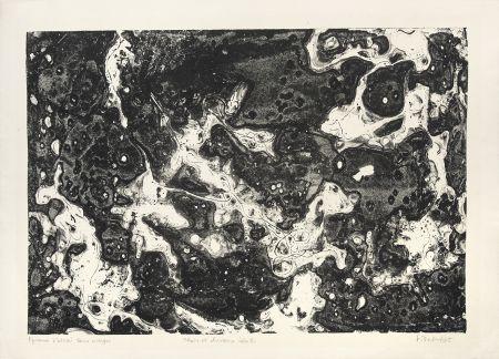 Lithographie Dubuffet - Chars et chevaux célestes