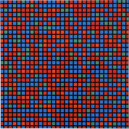 Multiple Morellet - Chartres bleu rouge