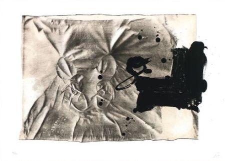 Lithographie Tàpies - Chaussures sur chaise