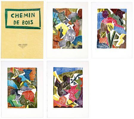 Gravure Sur Bois Voss - Chemin de bois (la série de 4)