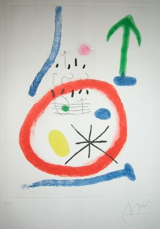 Eau-Forte Et Aquatinte Miró - CHEMIN DE LA RONDE III
