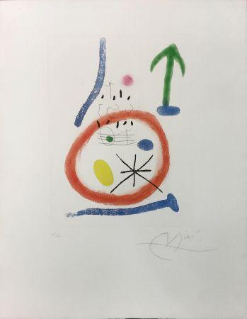 Eau-Forte Et Aquatinte Miró - Chemin De Ronde Iii