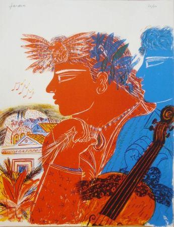 Lithographie Fassianos -  Chemins d'arménie