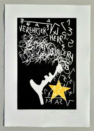 Linogravure Paladino - Cher monsieur Einstein