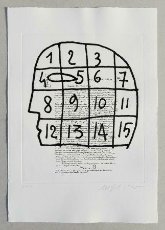 Linogravure Paladino - Cher monsieur Einstein (tav. 3)