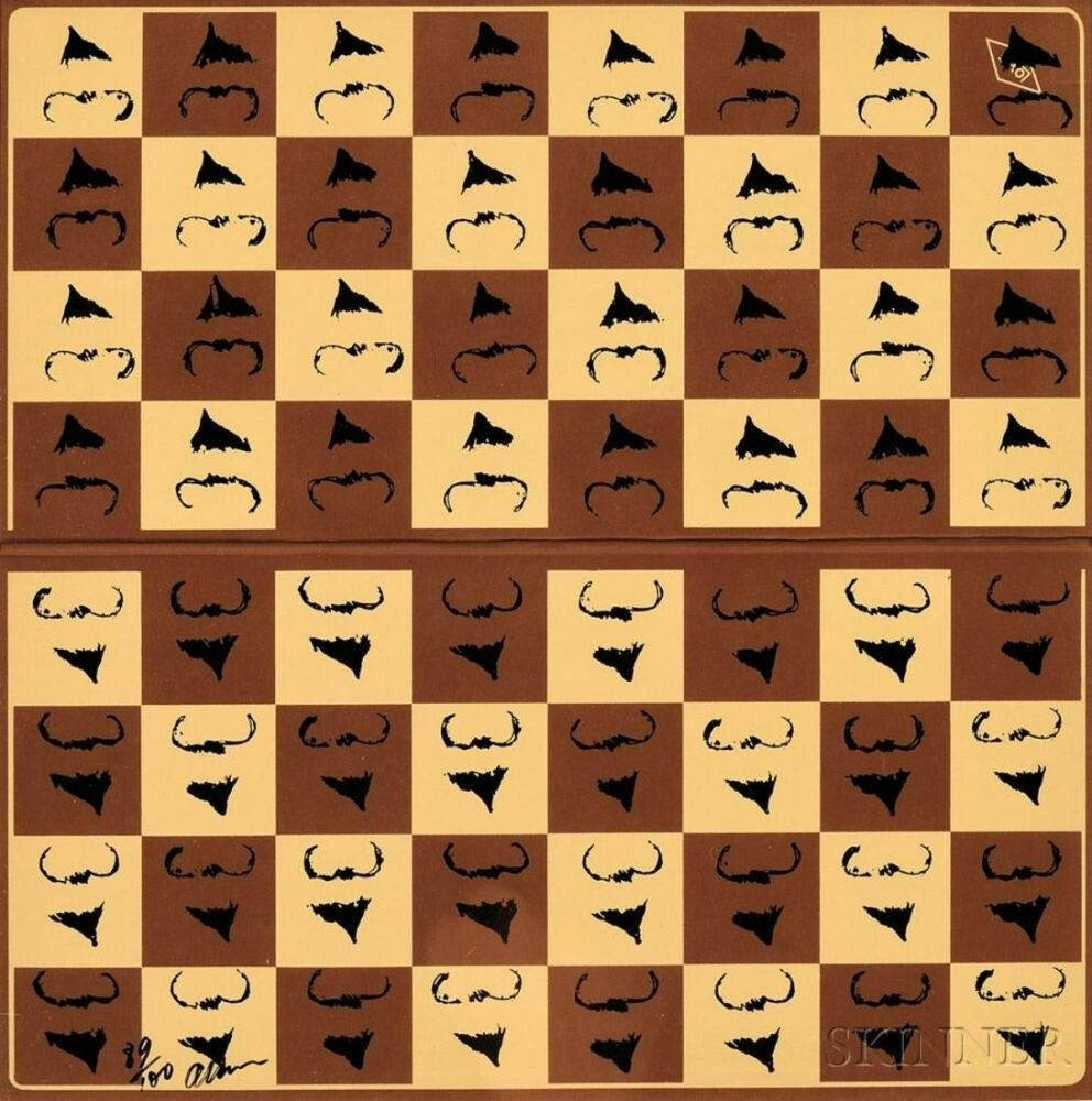 Sérigraphie Arman - Chessboard in Hommage to Marcel Duchamp's L.H.O.O.Q.