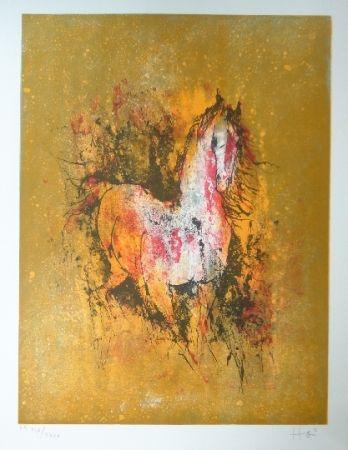 Lithographie Lebadang - Cheval au reveil