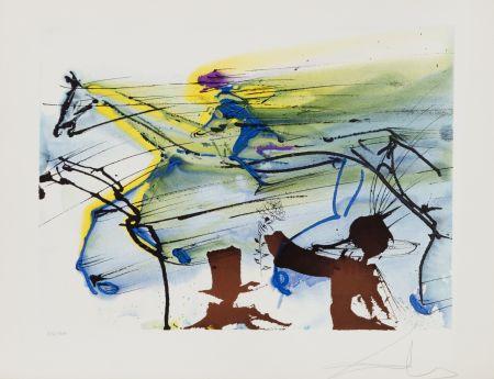 Lithographie Dali - Cheval de Course (26)