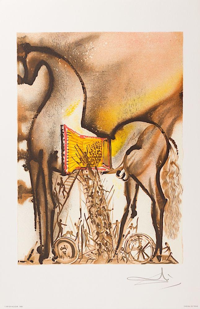 Lithographie Dali - Cheval de Troie (Trojan Horse)