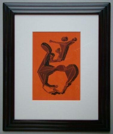 Lithographie Marini - Cheval et Cavalier