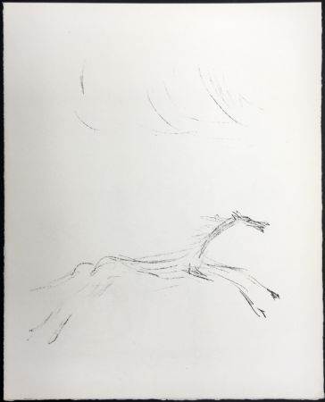 Lithographie Giacometti - CHEVAL GALOPANT (Galopping horse). 1961.