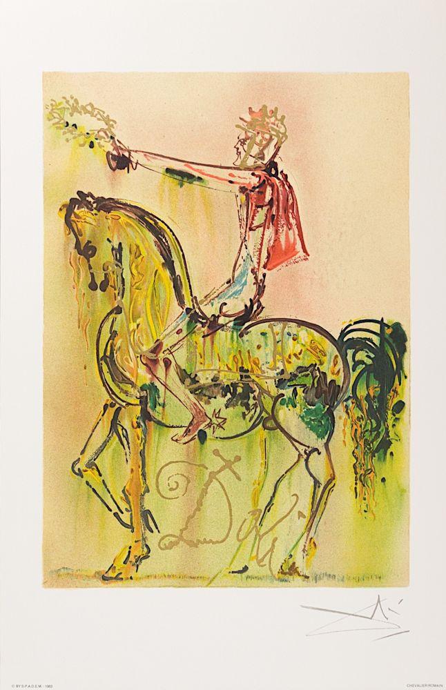 Lithographie Dali - Chevalier Romain (The Roman Cavalier)