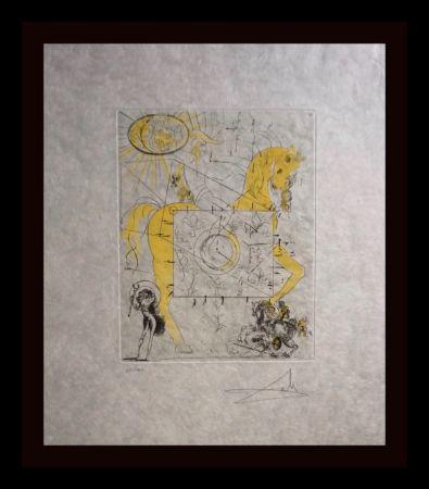 Gravure Dali - Chevalier Royal de L'Apocalypse