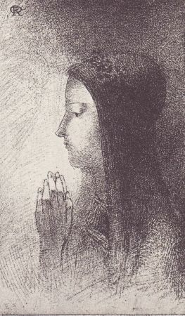 Lithographie Redon - Chevalieres Sentimentales