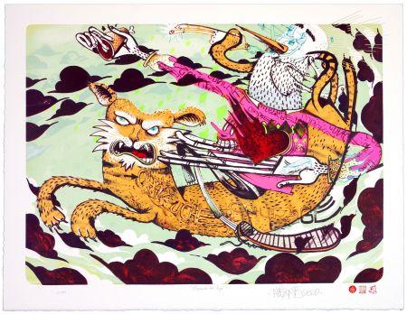 Lithographie Alexone - Chevauche ton Tigre/Ride the Tiger