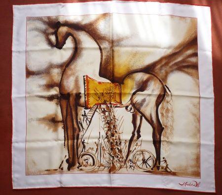 Sérigraphie Dali - Chevaux daliniens - Cheval de Troie
