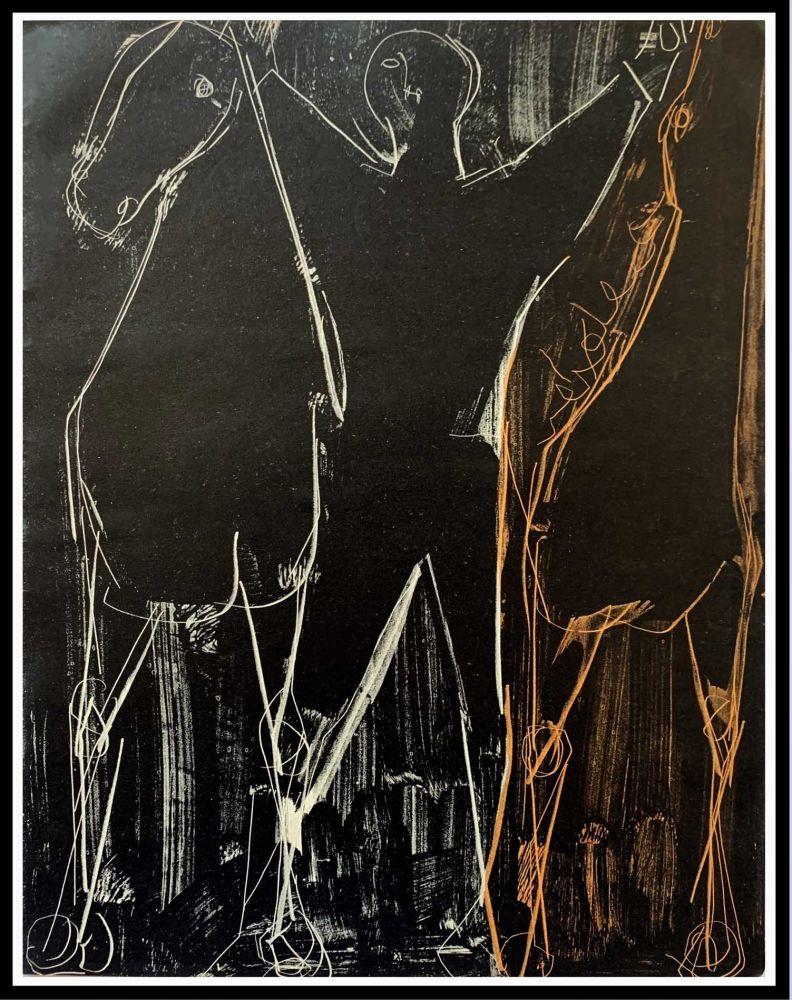 Lithographie Marini - CHEVAUX ET CAVALIER