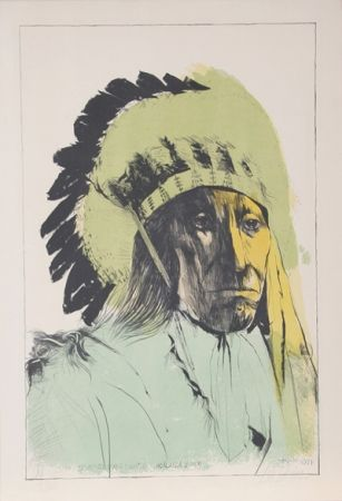 Lithographie Baskin - Chief American Horse - Oglalla Sioux